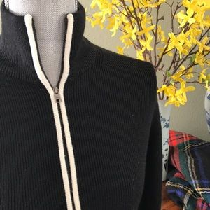 || Banana Republic || Cardigan with Zipper Trim